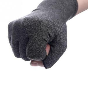 Image 5 - Hot 1 Pair Women Men Cotton Elastic Hand Arthritis Joint Pain Relief Gloves Therapy Open Fingers Compression Gloves