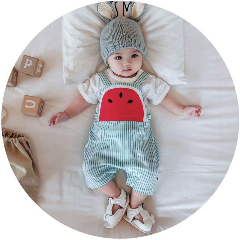 Baby Newborn Girls Jumpsuit Sleeveless Strap Infant Boys Casual Romper Outfits