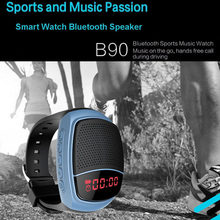 Wireless Sports Music Player Watch Style Bluetooth Speaker TF Card SLot FM Radio Stereo Outdoor Speaker Subwoofer Boombox(China)