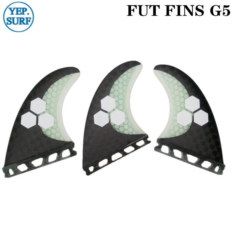 Future G5 Surfing Fin Fiberglass Honeycomb Black And White Color With Logo/no Logo Fins Customized Fins Surfboard Future Fins