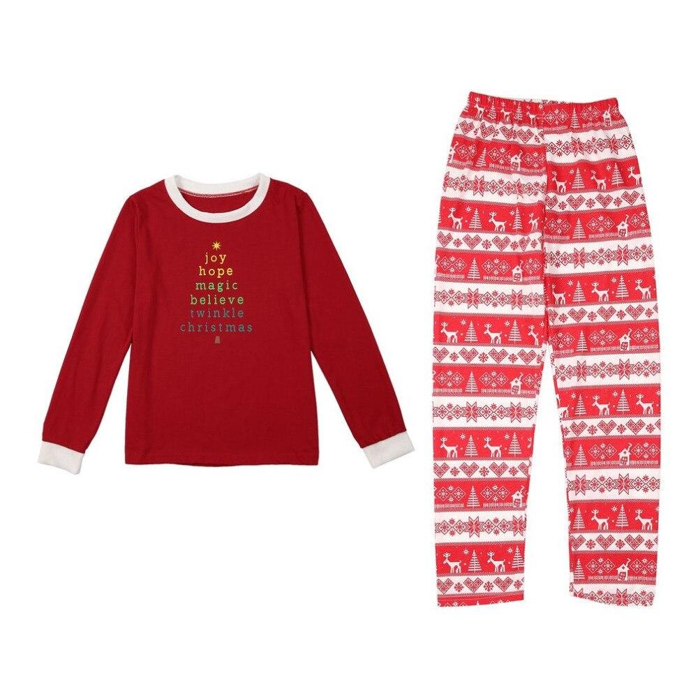 Xmas Moose Fairy Christmas Family Pajamas Set Adult Kids Sleepwear Nightwear Pjs Photgraphy Letter Printed Prop Clothing Hot