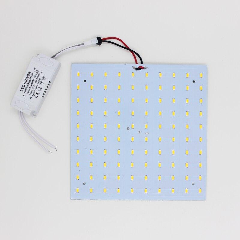 Envío gratis 180-265V LED Panel Lámpara Plaza 10W 15W 18W 20W 25W - Iluminación LED - foto 3