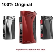 100% Original Vaporesso Nebula Vape mod 100W fit for 26650/ 18650 Battery Firmware Upgradeable With Waterproofing Board