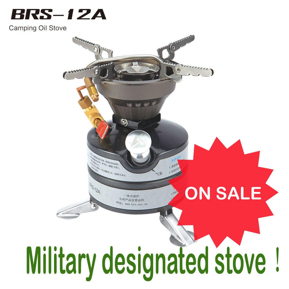 BRS 12A Outdoor Camping Stove Portable Liquid Fuel Camping Oil Stove ... for Kerosene Camp Stove  569ane