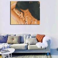 액자 섹시한 아름다운 여성 DIY 그림 그림 캔버스 벽 예술 그림 홈 Deocration 독특한 선물