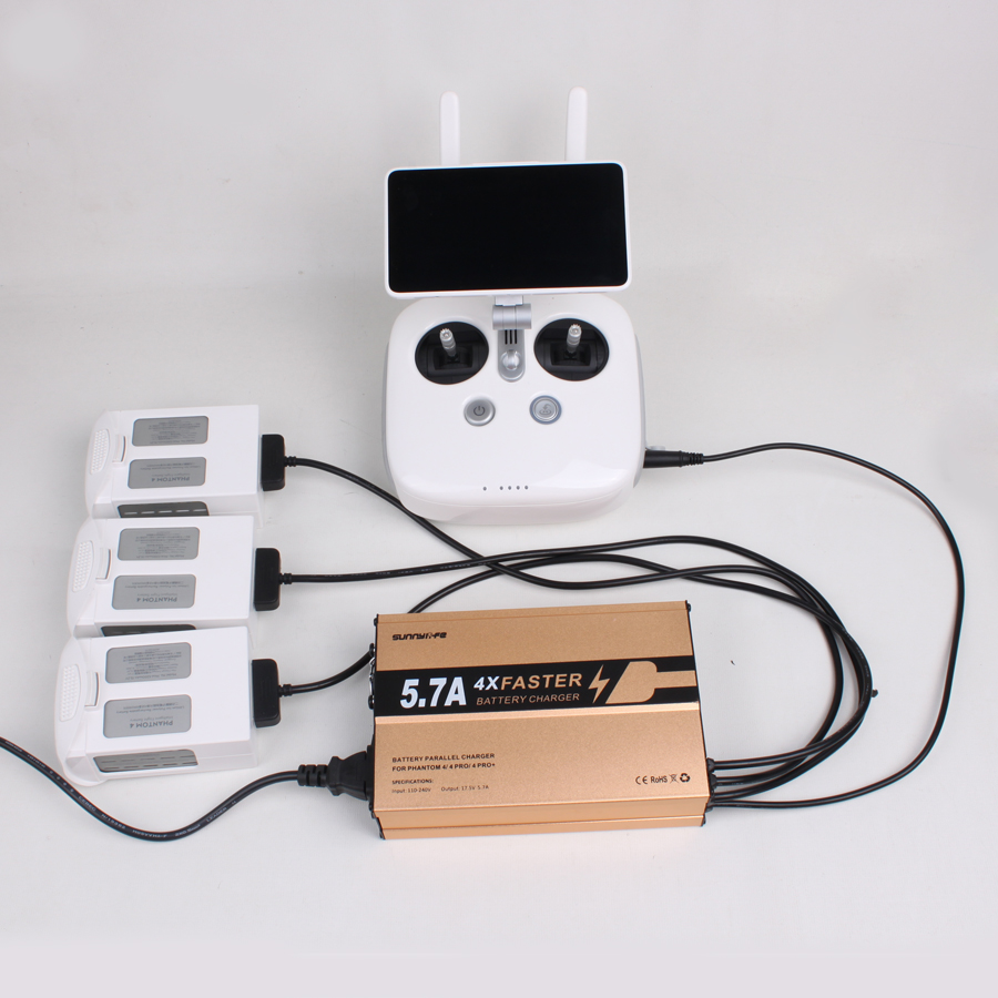 4 in 1 Faster 5.7A Rapid Battery Controller Parallel Multi Charger for DJI Phantom 4/4 P ...