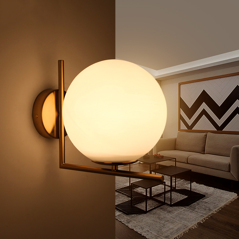 NEO Gleam E27 Modern Wall Lights Lamp For Bedroom Corridor Living Room Hardware Glass Gold