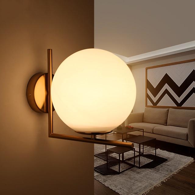 NEO Gleam E27 Moderne Wandleuchten Lampe Für Schlafzimmer Flur Wohnzimmer  Hardware + Glas Gold Hause Wandleuchte