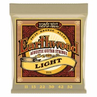Ernie Ball 2004 Earthwood 80 20 Bronze Light Acoustic Guitar Strings 11 52