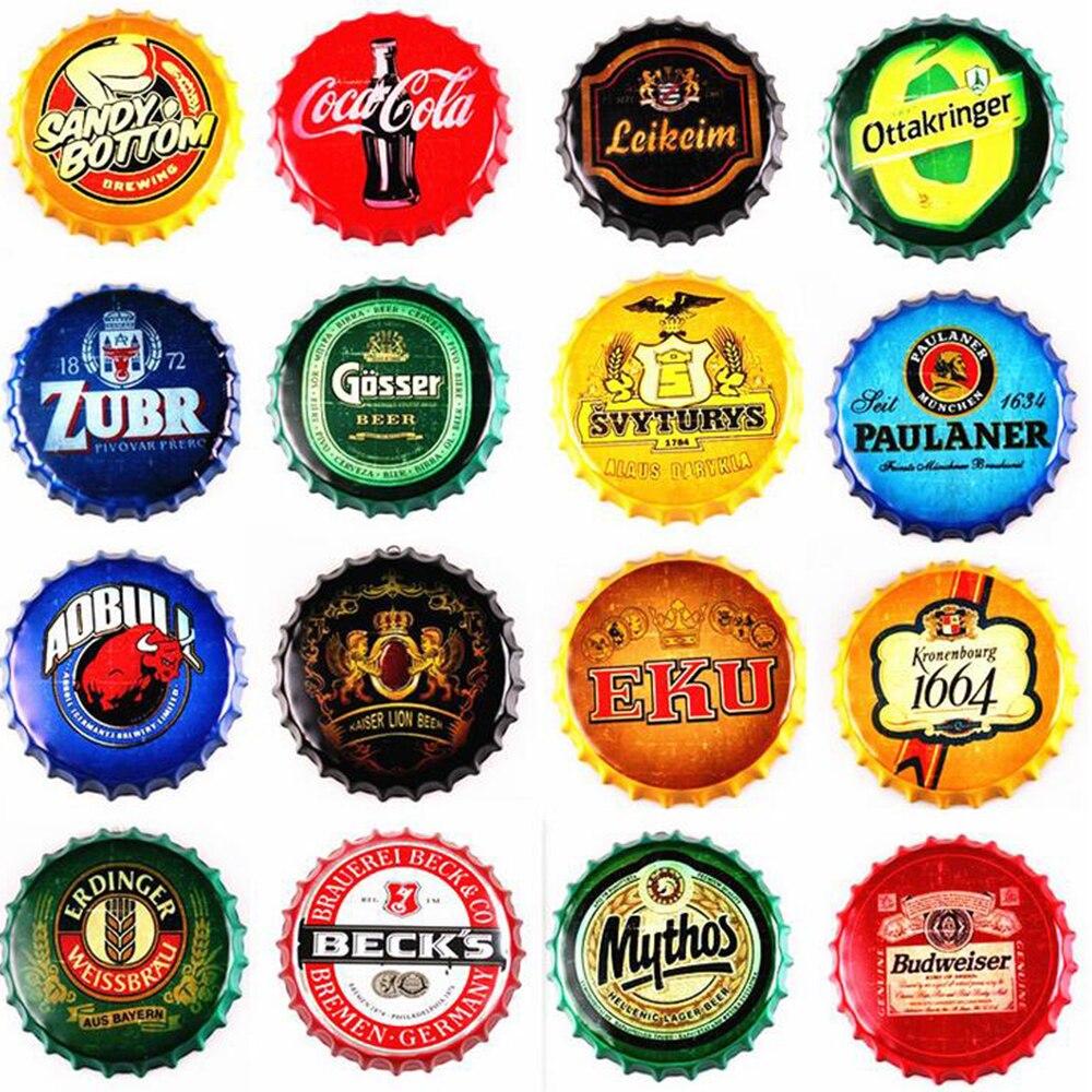 35cm tampa de garrafa metal estanho sinais cerveja café bar decoração placas retro decoração da parede arte da placa decoração da casa do vintage cartaz