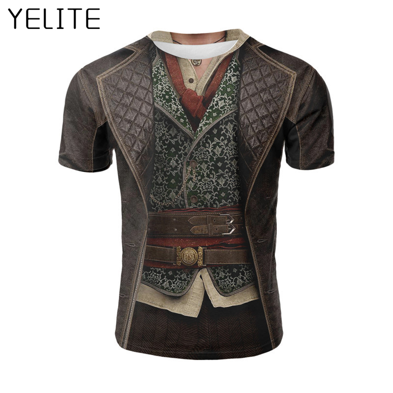 YELITE 2019 New Ancient Roman Gentleman Tshirt Hot Sale Cool  3D T-Shirt Printed Short Sleeved Fake Tees Men's Homme T Shirt