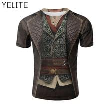 YELITE 2019 New Ancient Roman gentleman Tshirt Hot Sale Cool  3D T-Shirt Printed Short sleeved Fake Tees Mens Homme T Shirt