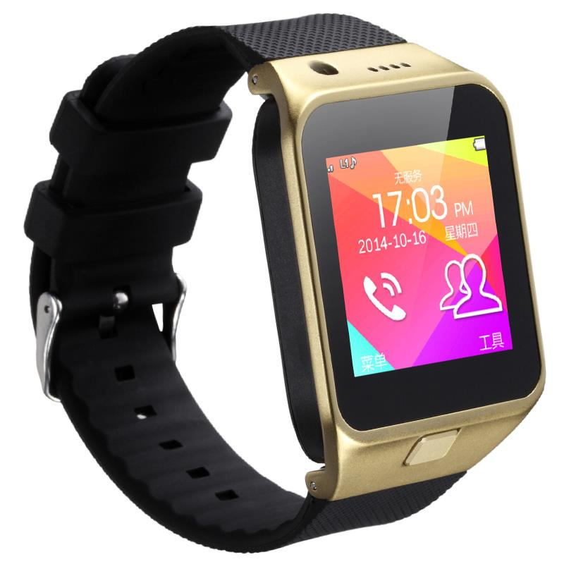 2016 New Smart watch bluetooth GV09 with camera bluetooth wristWatch SIM card font b Smartwatch b