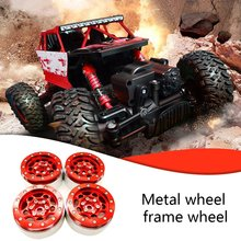 4pcs Upgrade Metal Wheel For Traxxas4 Trx-4/T4 1/10 Remote Climbing Car 1.9 Inch Free Paste Frame Modification Accessories