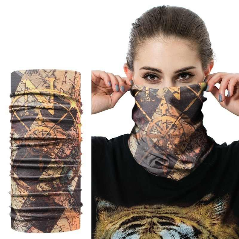 JAMONT Fashion New Design Skull  Bandana Scarf Motorcycle Dustproof Multifunctional Seamless Tubular Hip-hop Headband
