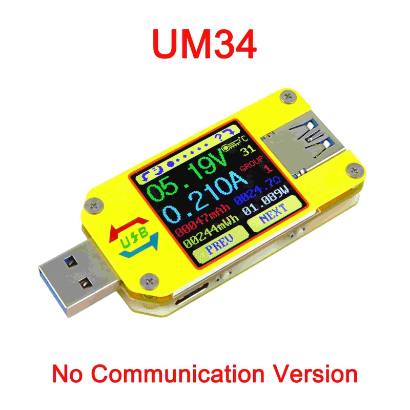 USB Tester Voltage And Current Measurement Type-C Meters Upgrade Current Meter With Bluetooth Board Voltage TesterUSB Tester Voltage And Current Measurement Type-C Meters Upgrade Current Meter With Bluetooth Board Voltage Tester