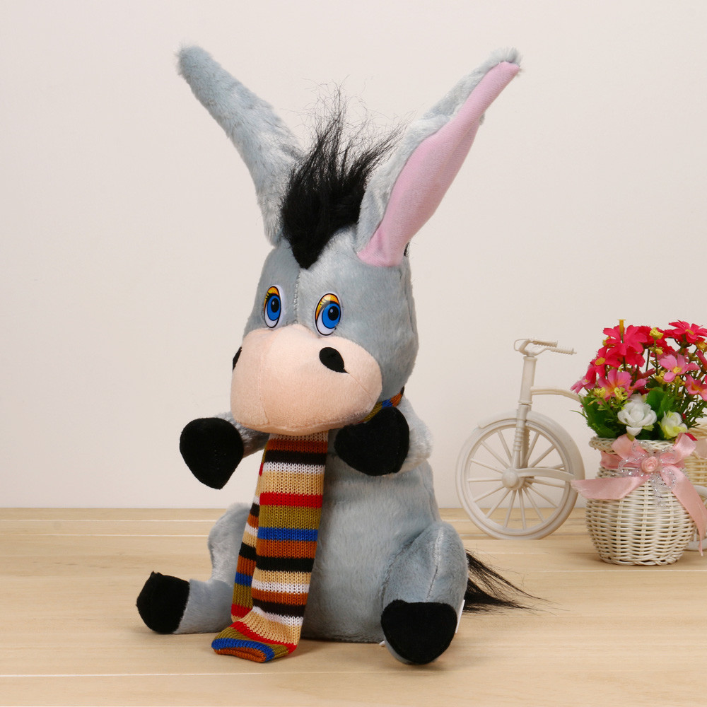 Shake Ears Donkey Soft Plush Toy Singing Stuffed Animated Animal Kid Doll best gift stuffed animal jungle lion 80cm plush toy soft doll toy w56