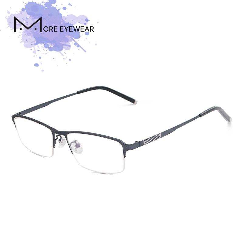 blau Mann Semi Schwarzes Optische Rahmen Linse Brille Männlich kaffee randlose Rechteck Brillen 5307 Schwarze Titan Onq577H