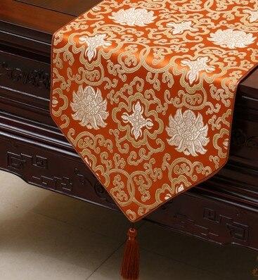 럭셔리 꽃 중국 실크 테이블 러너 웨딩 사각형 빈티지 다 마스크 테이블 천으로 장식 식탁 매트