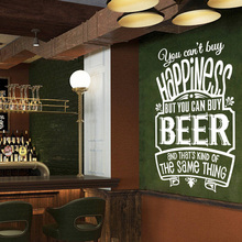 BEER Wall Stickers Restaurant Pub Removable Vinyl Sticker You Cant Buy Happiness But Can beer decors Decals G124