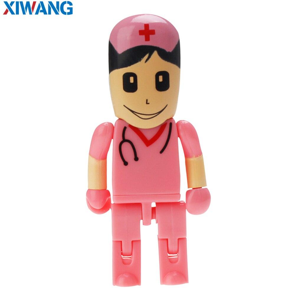 Image 4 - Новый мультяшный флеш накопитель робот Доктор модель медсестры USB 2,0 флэш накопитель 128 Гб 64 ГБ 32 ГБ 16 ГБ 8 ГБ 4 ГБ зубной USB флэш накопитель-in USB флэш-накопители from Компьютер и офис