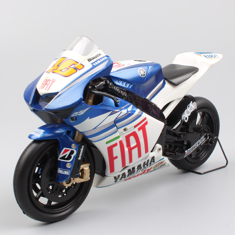 Kids 1/12 Newray Racer ROSSI Yamaha YZR-M1 YZR M1 Gp Fiat Team 2008 Scale Motorcycle Sport Moto Bike Diecast Miniature Model Toy