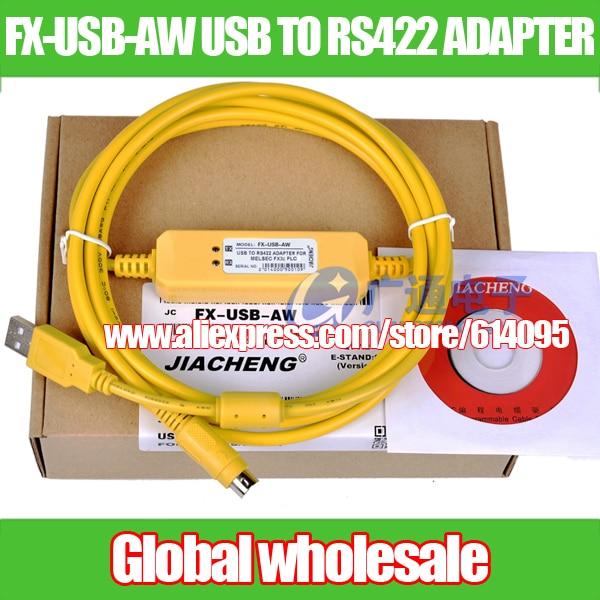PLC Кабель программирования для Mitsubishi FX3U серии/кабель скачивания данных FX USB AW к RS422