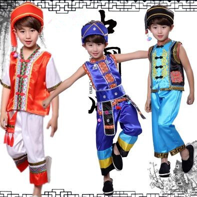 chinese national dance costumes for boys chinese national costume for kids chinese miao clothing festival costume