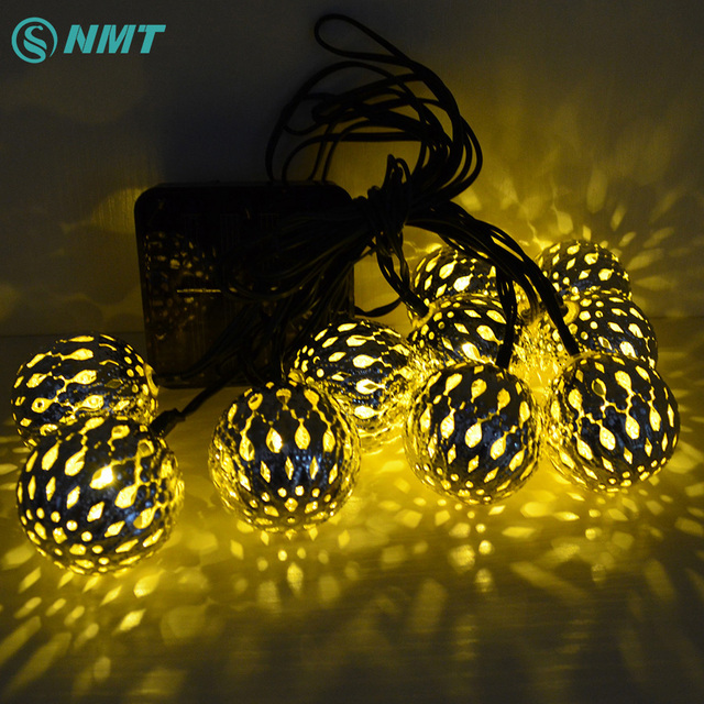 10leds solar light led string lights christmas led fairy lights garland ball lamps for garden party