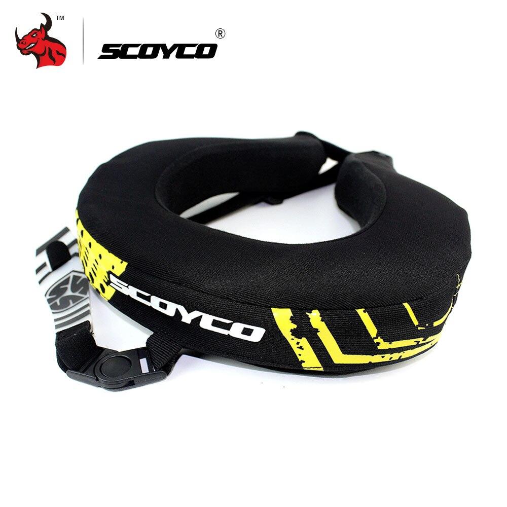 SCOYCO Moto Cou Protecteur Descente VTT VTT De Vélo Longue Distance Racing De Protection Brace Motocross Cou Garde Noir