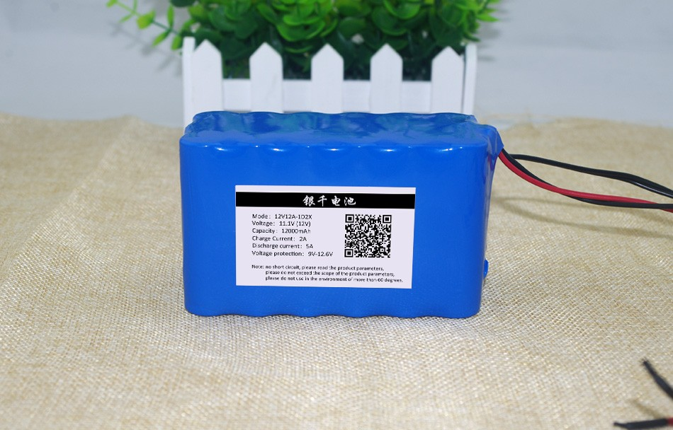 11.1 / 12.6 / 12 V <font><b>12ah</b></font> 12000 18650 mAh capacity <font><b>lithium</b></font> <font><b>battery</b></font>, including for the protective plate image