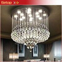 Современные Splendid k9 кристалл подвесной светильник круглой Гостиная светодиодные лампы кристалла комплекс зданий большой отель КТВ вилла пр
