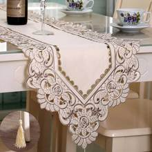 Fashion Embroidered Table Runner Floral Lace Dust Proof Covers for Table Home Party Wedding Table Decoration Party Supply