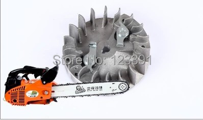 Free shipping of high quality chain saw accessories fly wheel/magnetic cylinder for professional  gasoline saw 2500 Chain saw free shipping of high quality 3 layer spring steel welded 16 guide bar pitch 325 66dl for zenoah 52 gasoline chain saw