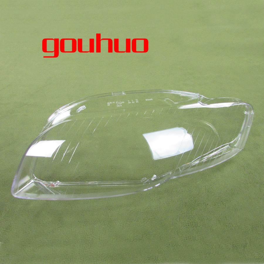 For Audi A4 B7 06-08 Lamp Shade  Lamp Headlight Mask Headlights Shell Lampshade Cover 2PCS