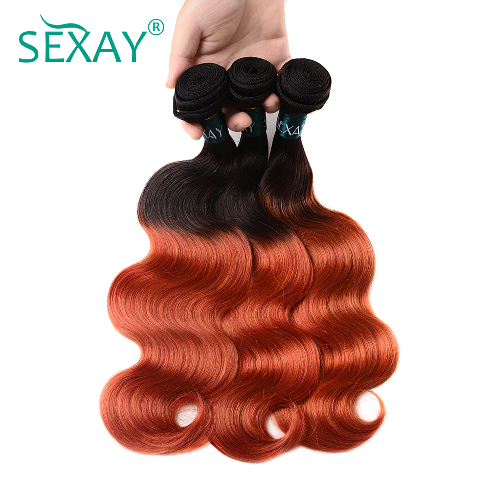 Discover Sexay Pre Colored Ombre Brazilian Human Hair Weave 3