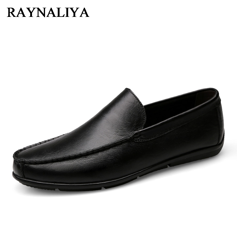 Summer Breathable Men Loafers Handmade Moccasins Genuine Leather Casual Shoes Slip On Flats Mens Driving Shoes Big Size LB-B0015 mycolen men loafers leather genuine luxury designer slip on mens shoes black italian brand dress loafers moccasins mens