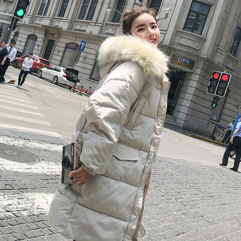 Et 2018 À Femmes Col white Chaud Mode Grande Rembourré Pw40 Imperméable Poche Manteau Capuchon D'hiver De Fermeture Glissière Black Fourrure Parkas Grand Ouatée Veste gwOdn0vxqv