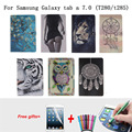 Tablet Окрашенные Case For Samsung Galaxy Tab A 7.0 T280 T285 Case Paintting Pattern Case for Samsung Galaxy Tab A 7.0 2016 крышка