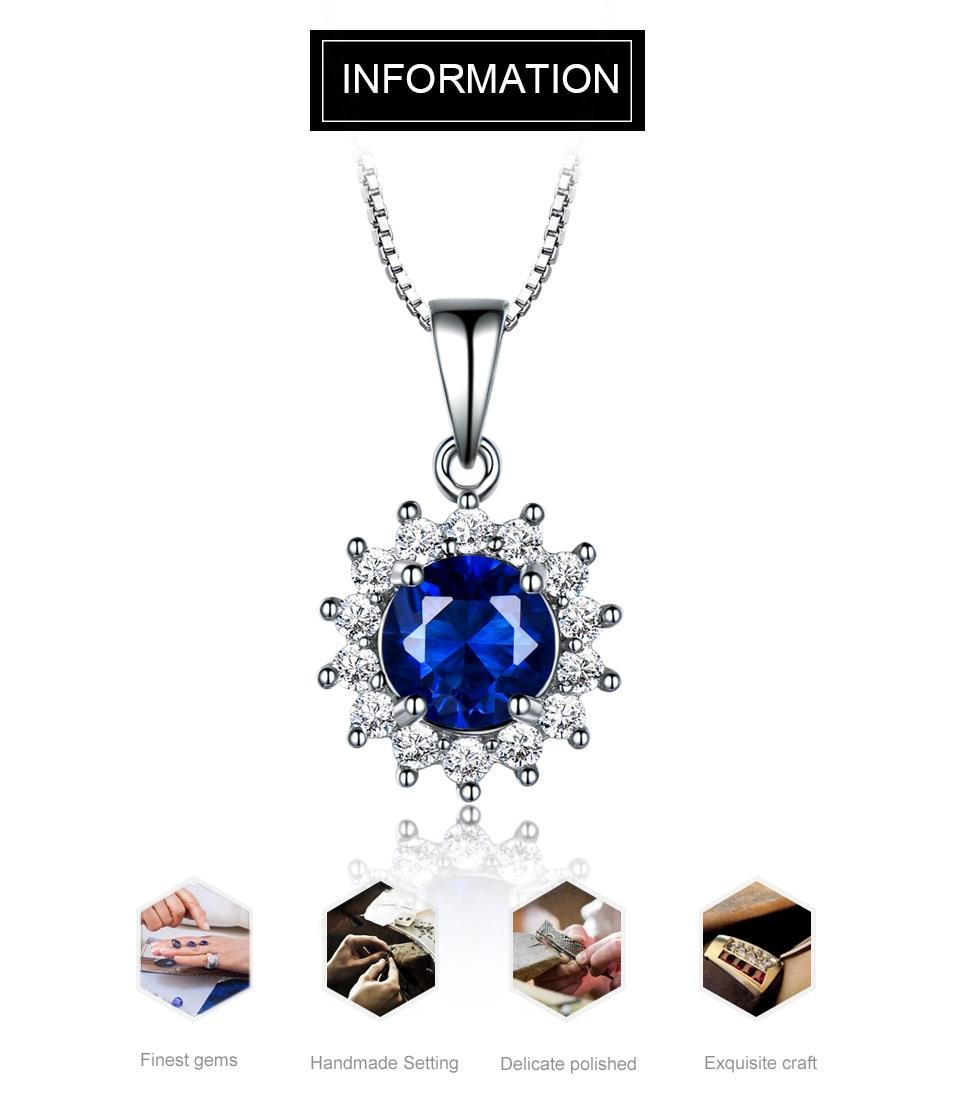 umcho blue sapphire  pendant for women brand fine jewelry NUJ032S-1 (1)