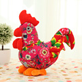 2017 New Year Gifts 35cm Lucky Rooster Plush Chicken Stuffed Animals Toys Chook Model Best Toys For Children Kids Girls WW16A