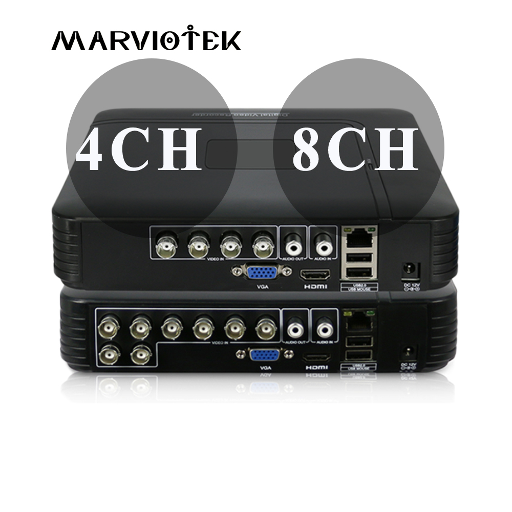 8CH 1080N AHD Mini DVR System ONVIF Mini NVR 1080P 16CH 5in1 TVI CVI AHD IP HDMI P2P Cloud network CCTV NVR AHD Video Recorder цена 2017