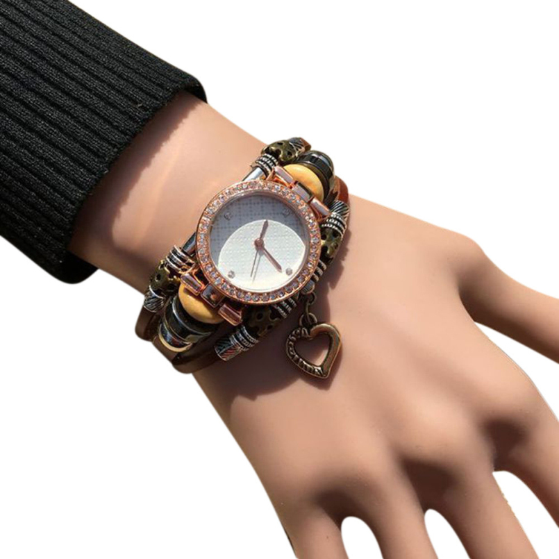 Excellent Quality New Vintage Leather Bracelet Watch Women Wristwatch Ladies Quartz Watches Dress Watch Relojes Mujer Horloges