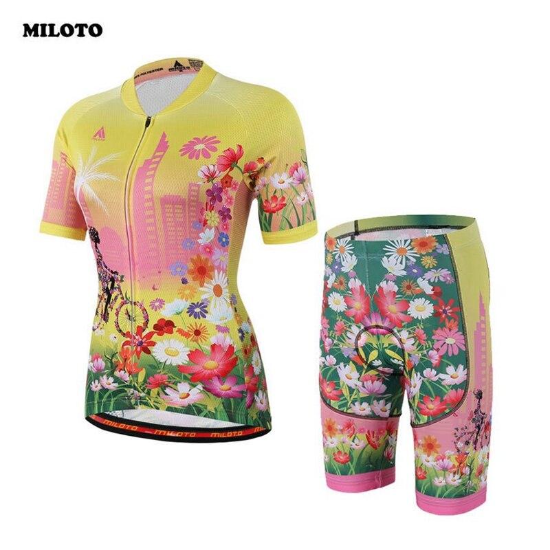 2017 Women Cycling Jersey (Bib) Shorts Set Team Ropa Ciclismo  Short Sleeve Sportswear Bike Clothing Bicycle Gel Bib Shorts