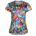 Fashion Cartoon Pokemon Print Men's T-shirt O-neck Summer T shirt 2015 short sleeve T Shirt Punk Tee
