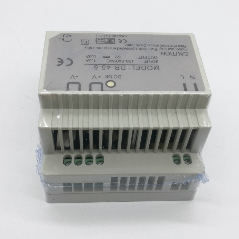 цена на Din rail Single Output Switching power supply DR-45-5 45W 5V 9A ac dc converter SMPS
