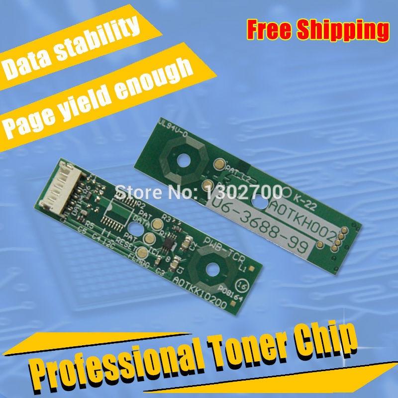 dv311 K C M Y developer unit chips for Konica Minolta Bizhub C220 C280 C360 C 220 280 360 color Cartridge Imaging reset chip