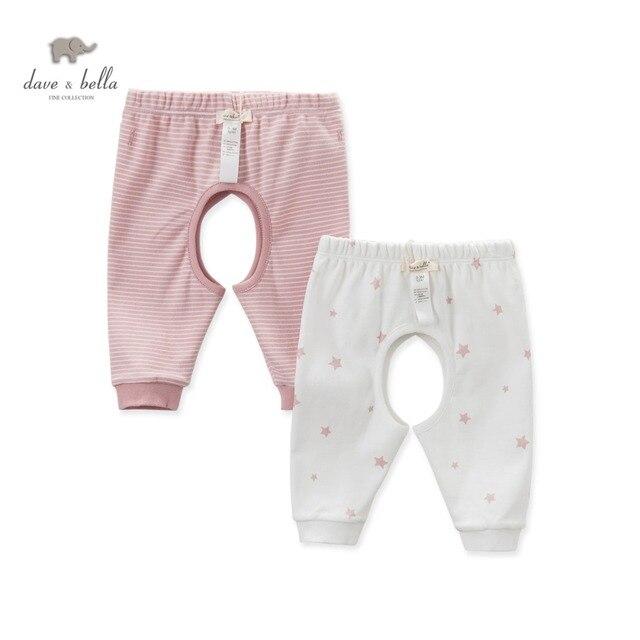 DB4628 дэйв белла осень новорожденного мальчики девочки сна топы звезда печатных пижамы попы baby pink синий днища сна