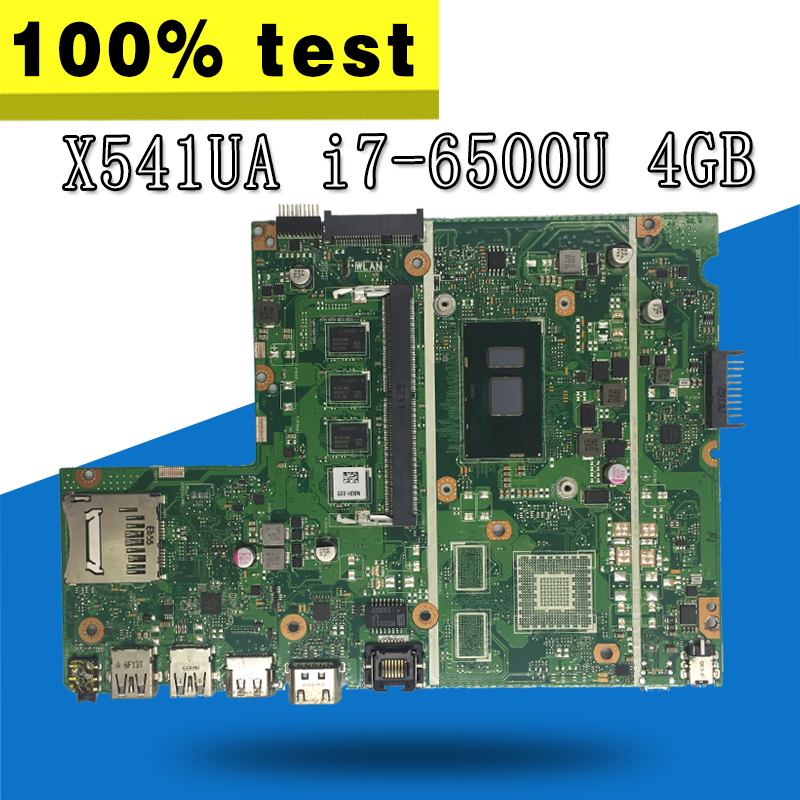 X541UAK With i7-6500CPU With 4GB memory mainboard REV2.0 For ASUS X541UVK X541UA X541UV laptop motherboard X541UA Motherboard x541uak with i3 7100 cpu mainboard rev 2 0 for asus x541uak x541uvk laptop motherboard usb 3 0 hdmi 100