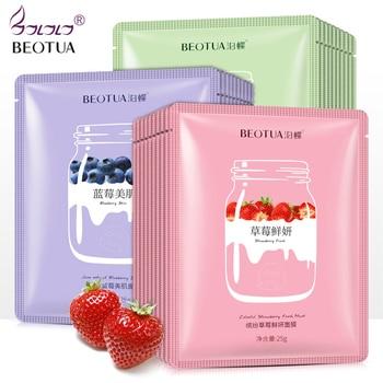 BEOTUA Face Mask Natural Fruit Extracts Hyaluronic Acid Facial Masks Moisturizing anti acne aging whitening Skin Care Masks